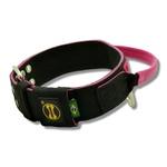 Coleira Para Cachorro Com Alça Personalizada (preto e pink)