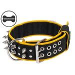 Coleira Amorosso® Spike (preto e amarelo)