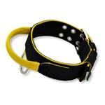 Coleira Para Cachorro Poderosso (preto e amarelo)