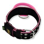 Coleira Para Cachorro Poderosso (preto e rosa)