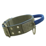 Coleira Para Cachorro Poderosso (Cinza e Azul)