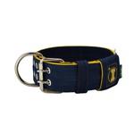 Coleira Para Cachorro Amorosso (azul marinho e amarelo)