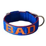Coleira Para Cachorro Personalizada (azul e laranja)