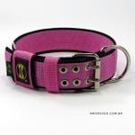 Coleira Para Cachorro Amorosso Slim (rosa e preto)