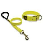 Coleira Para Cachorro Fit + Guia / Amarelo Flúor