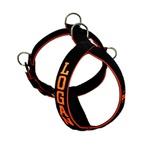 Peitoral Amorosso® Personalizado (preto e laranja)