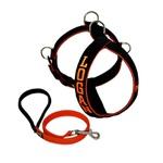 Peitoral Amorosso® Personalizado (preto e laranja) + Guia Curta