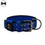 Coleira Para Cachorro Amorosso Slim (azul e preto )