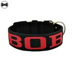 Coleira Para Cachorro Personalizada Total Black e vermelho