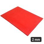 2 Mm - Placa De Látex Vermelho - 34 x 24 Cm