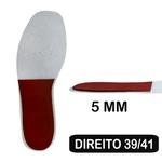 Palmilha De Resina - Cunha De 5 Mm - Pé Direito - Dismetria 39-41