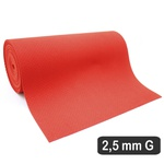 2,5 Mm Cobertura Vermelho Perfurado g (530 x 31 Cm)