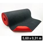 2,8 Mm Cobertura - Microfibra Preta + Eva Vermelho g (560 x 31 Cm)