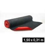 2,8 Mm Cobertura - Microfibra Preta + Eva Vermelho p (190 x 31 Cm)