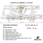 Suporte De Dumbbells - 8 Pares