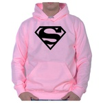 Moletom Unissex Superman - Rosa