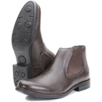 Bota Chelsea Couro Floater Mouro
