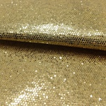 Laminado Sintético PU Glitter Sextavado Ouro