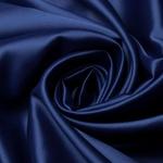 Tecido Cetim Charmeuse Liso Azul Marinho 100% Poliéster