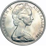 1966 Round 50c Coin