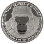 1 oz 2016 Congo Silverback Gorilla Silver Coin