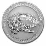 2014 Silver 1 oz Australia Perth Saltwater Crocodile
