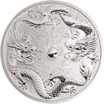 2019 Silver 1 oz Australia Perth Double Dragon BU