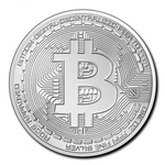 "2020 Chad Crypto Series ""Bitcoin"" 1 oz Silver BU"