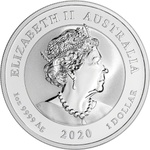 2020 Silver 1 oz Australia Perth Guardian Lions (Double Pixiu) BU