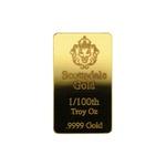 Scottsdale Gold 1/100th Oz Bar
