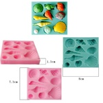 Molde de Silicone conchas Fundo do Mar