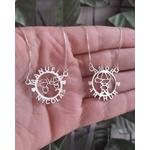 Mandala Simples Em Prata 925 Com 1 ou 2 Filhos