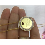 Gargantilha Mandala Em Banho de Ouro Cravejada em Zircônias Com Até 3 nomes
