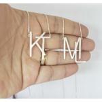 Gargantilha Monograma em Prata 925