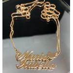 Colar Personalizado Dois Nomes Banhado a Ouro Com Coração