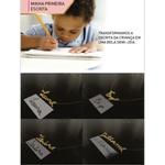 Colar personalizado banhado a ouro escrita