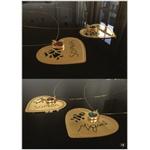 Colar personalizado banhado a ouro coração com escrita de filho (a)