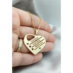 Gargantilha Mandala Banhada a Ouro Coração Com Até 5 Nomes Copia