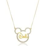 Colar Minnie ou Mickey Personalizado Banhado a Ouro