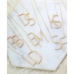 Gargantilha Monograma Cravejado em Banho de Ouro Com 2 Iniciais