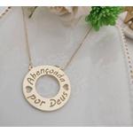 Colar Mandala Simples Banhada a Ouro Com Até 3 Nomes Vazados