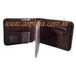 CA-726-Carteira Masculina Mitty De Couro Legitimo Cafe