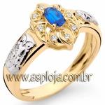 Anel de formatura em Ouro amarelo 18k 750 com diamantes - ASP-AF-11