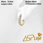 Brinco Argola de Diamante em Ouro Amarelo 18k-BR503