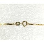 CO-10-Corrente de Ouro 18k Veneziana 1,2mm-40,0cm-2,10g