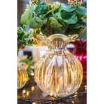 Vaso de Cristal Murano Trouxinha com Ouro G