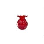 Vaso de Cristal Murano Trouxinha Vermelha M