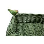 Cesta Pássaro Quadrada Verde