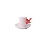 Set Xícara de Pássaro Vermelho