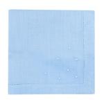 Guardanapo Cambraia de Linho azul claro com poás